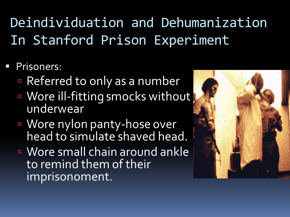 Deindividuation and Dehumanization In Stanford Prison Experiment
