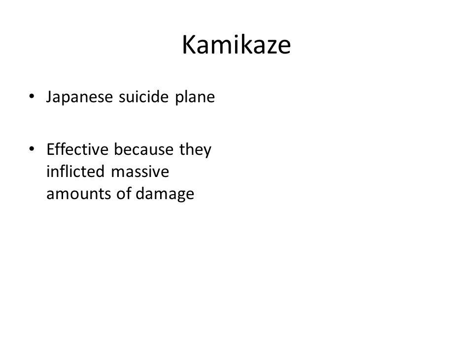 Kamikaze Japanese suicide plane