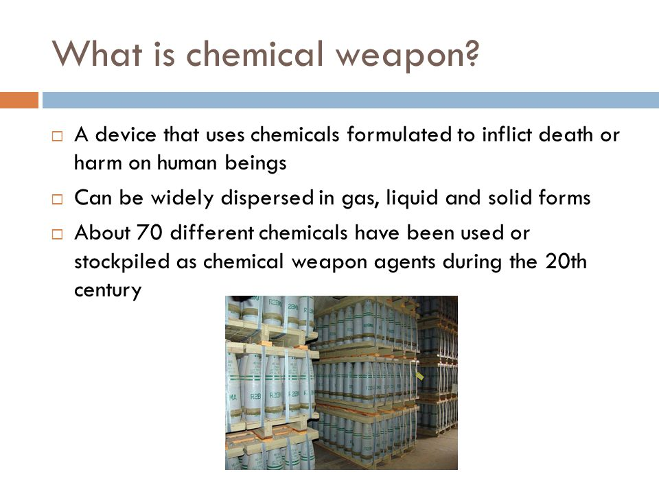 What is chemical weapon