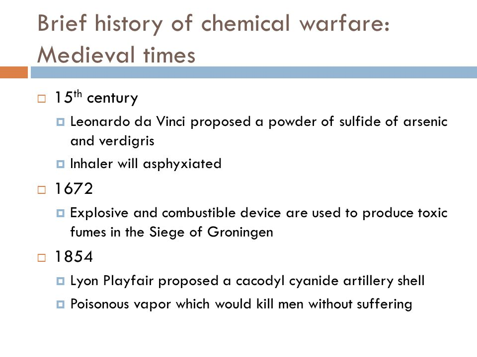 Brief history of chemical warfare: Medieval times