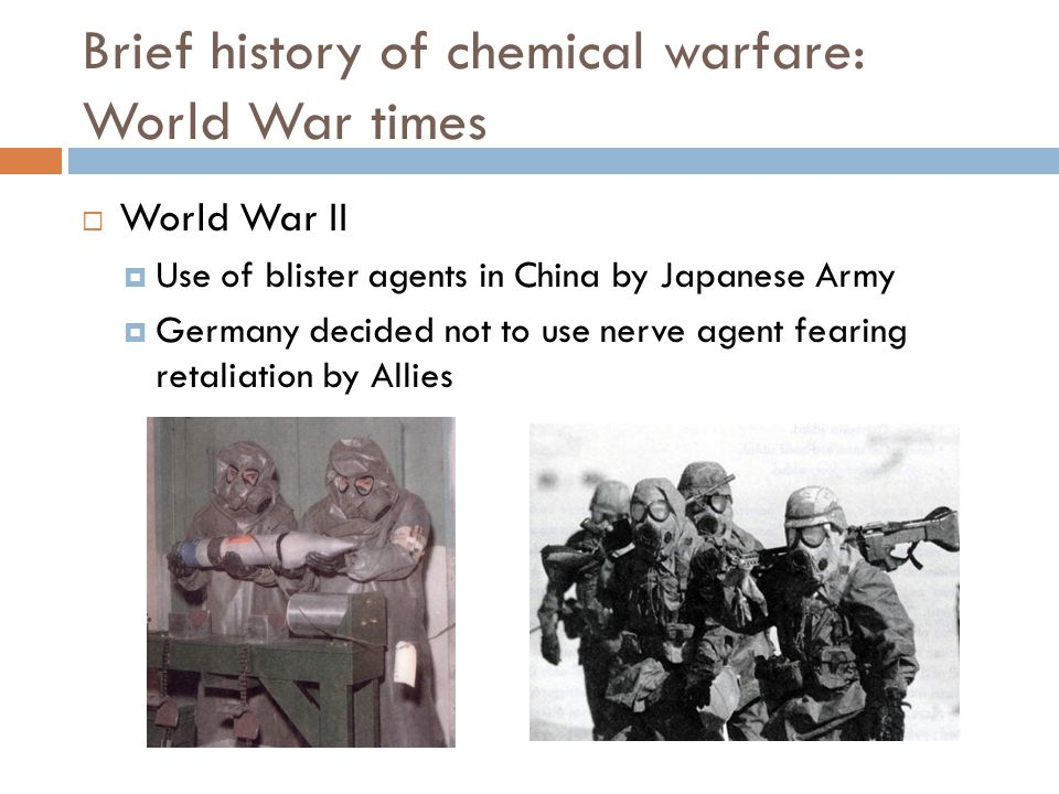 Brief history of chemical warfare: World War times