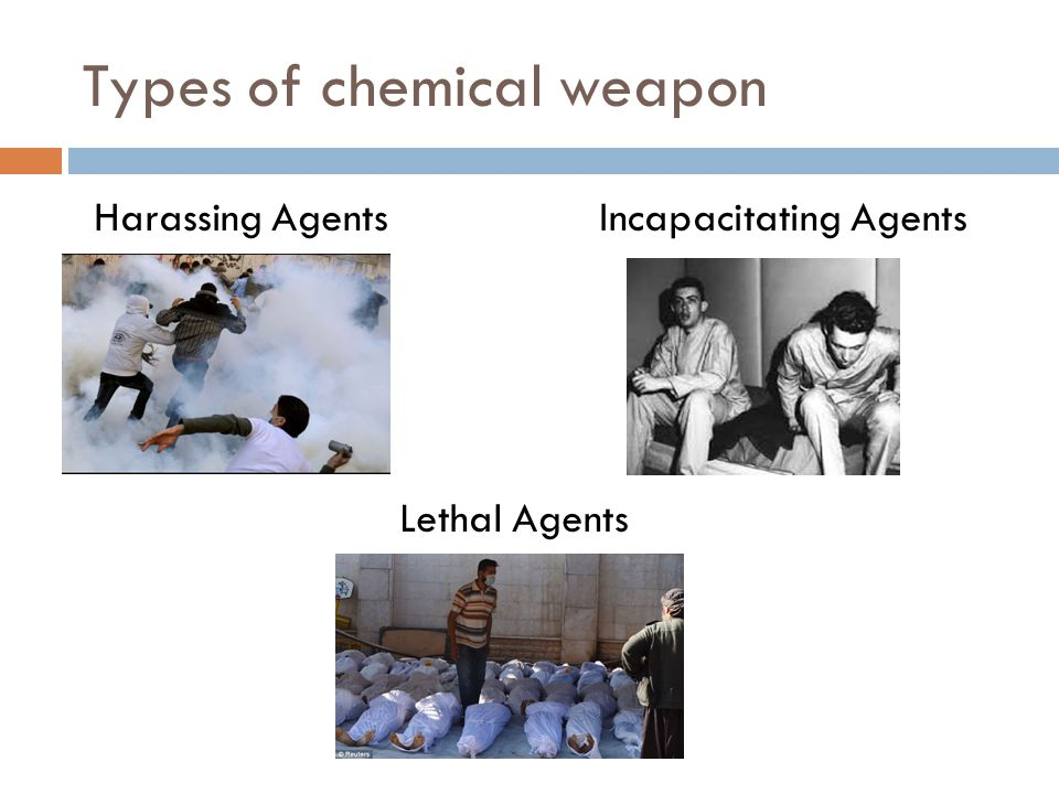 Types of chemical weapon