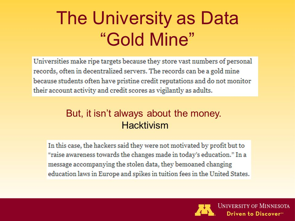 The University as Data Gold Mine