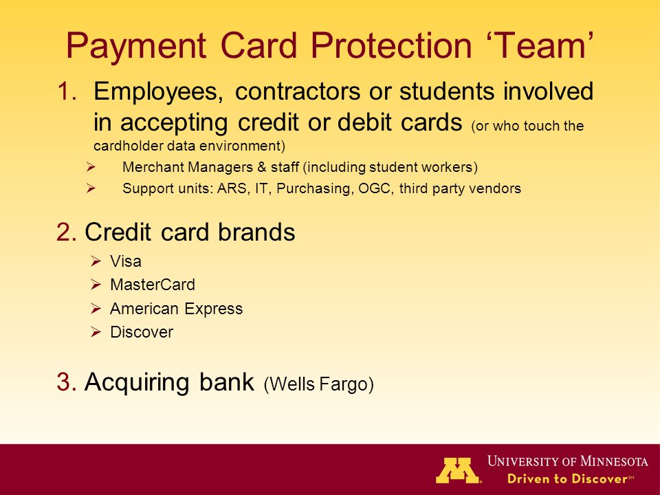 Payment Card Protection 'Team'