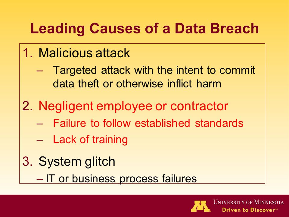 Leading Causes of a Data Breach