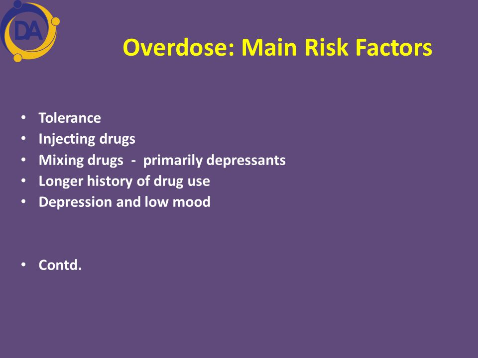 Overdose: Main Risk Factors