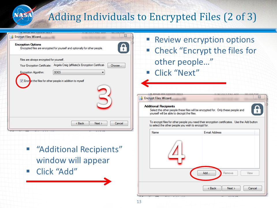 Adding Individuals to Encrypted Files (2 of 3)