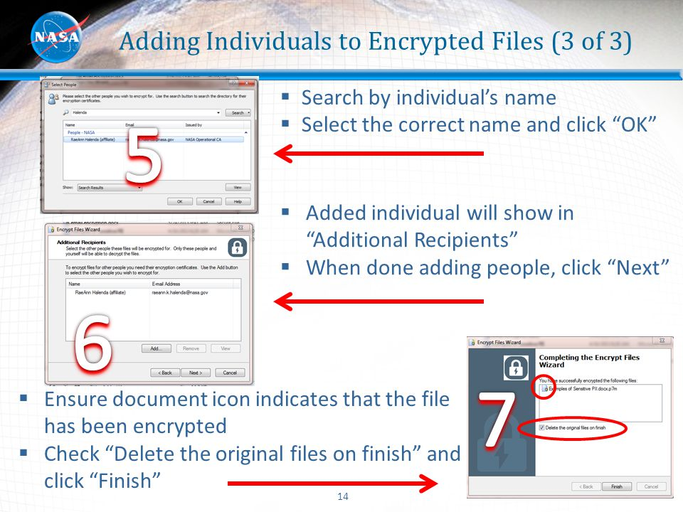 Adding Individuals to Encrypted Files (3 of 3)