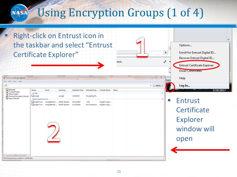 Using Encryption Groups (1 of 4)
