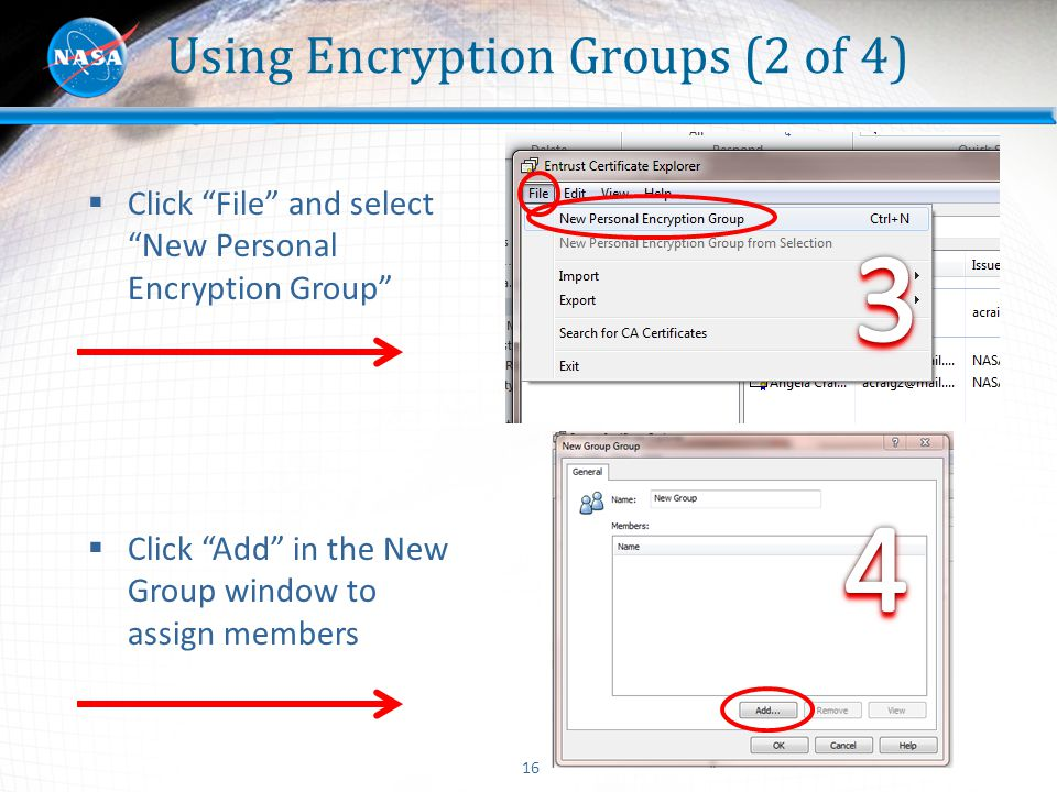 Using Encryption Groups (2 of 4)