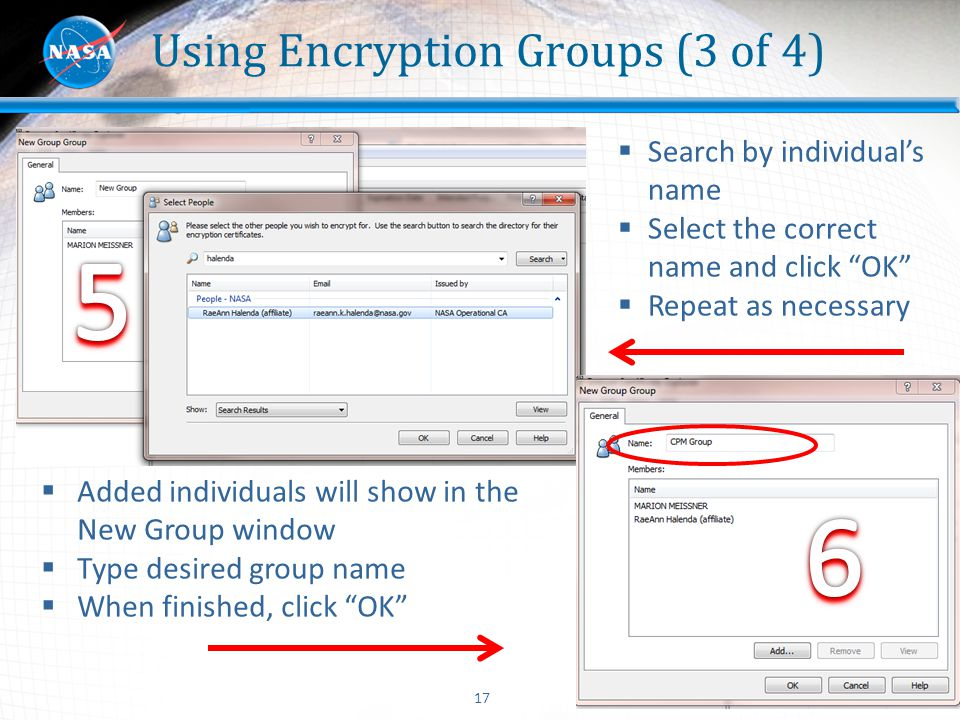 Using Encryption Groups (3 of 4)