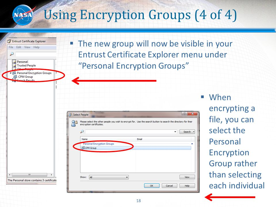 Using Encryption Groups (4 of 4)