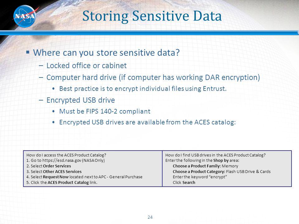 Storing Sensitive Data