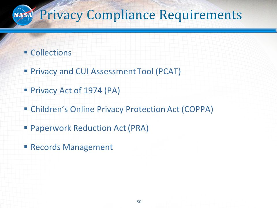 Privacy Compliance Requirements