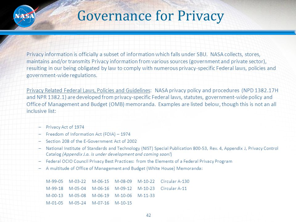 Governance for Privacy