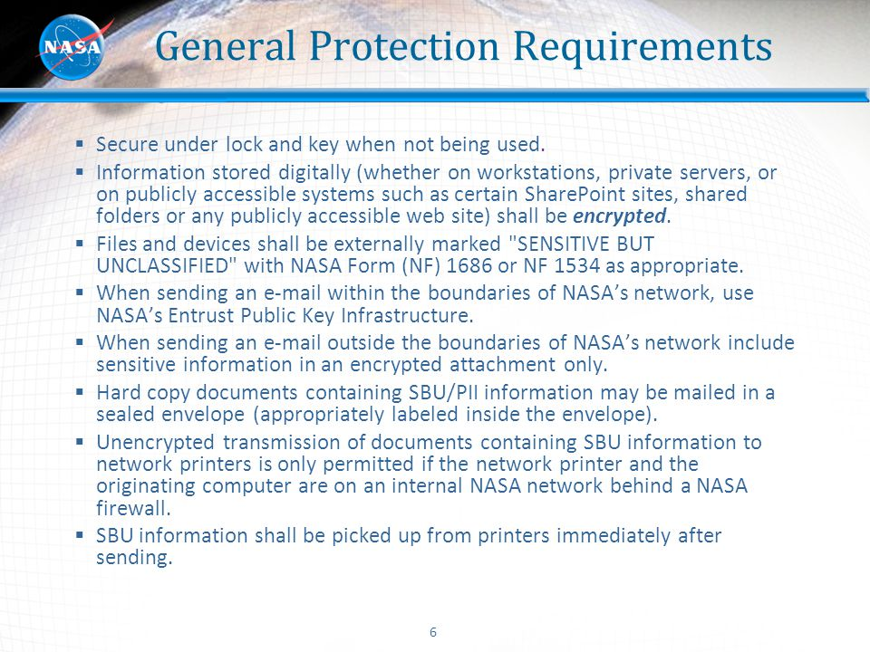 General Protection Requirements
