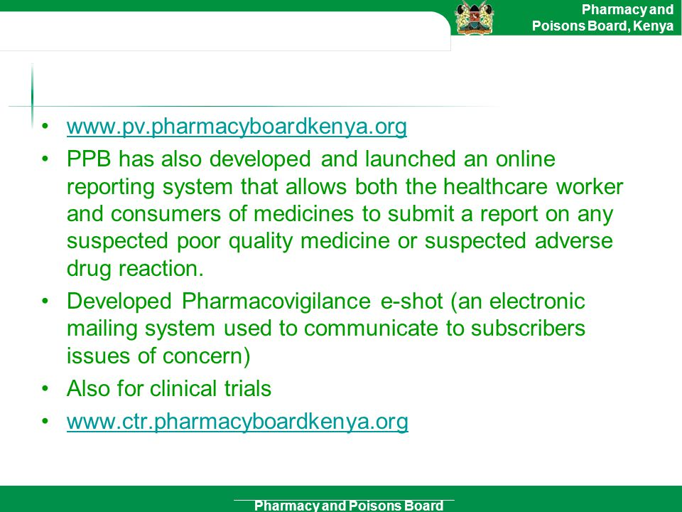 www.pv.pharmacyboardkenya.org
