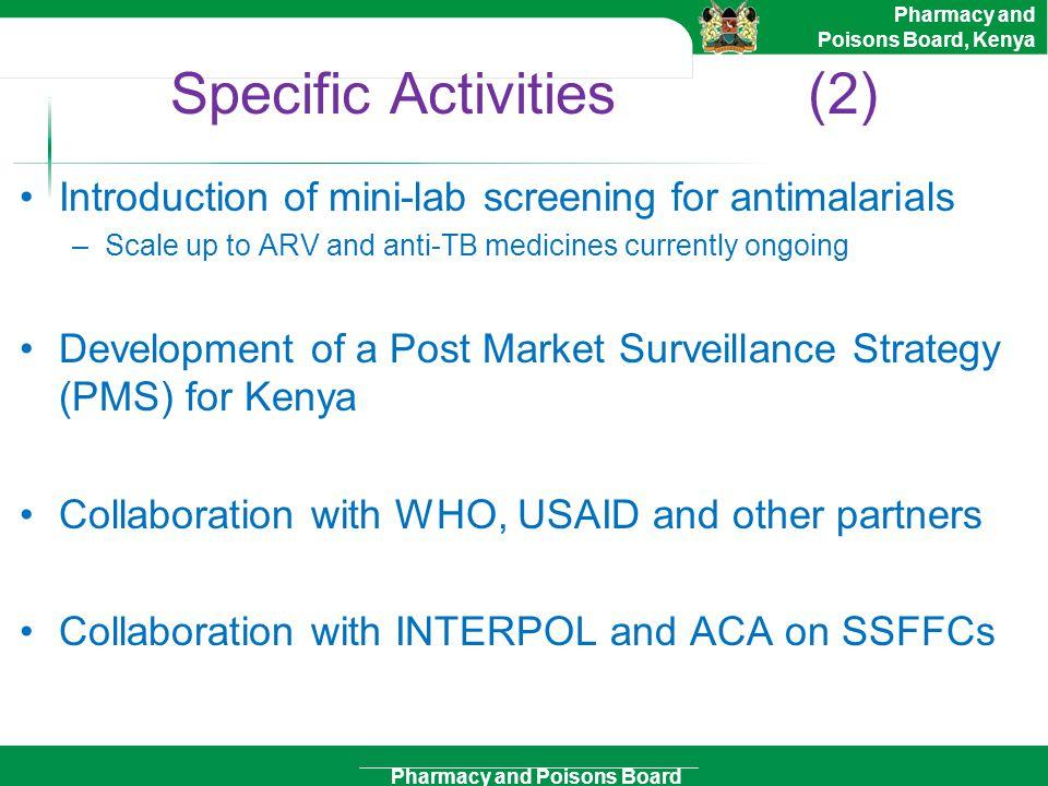 Specific Activities (2)