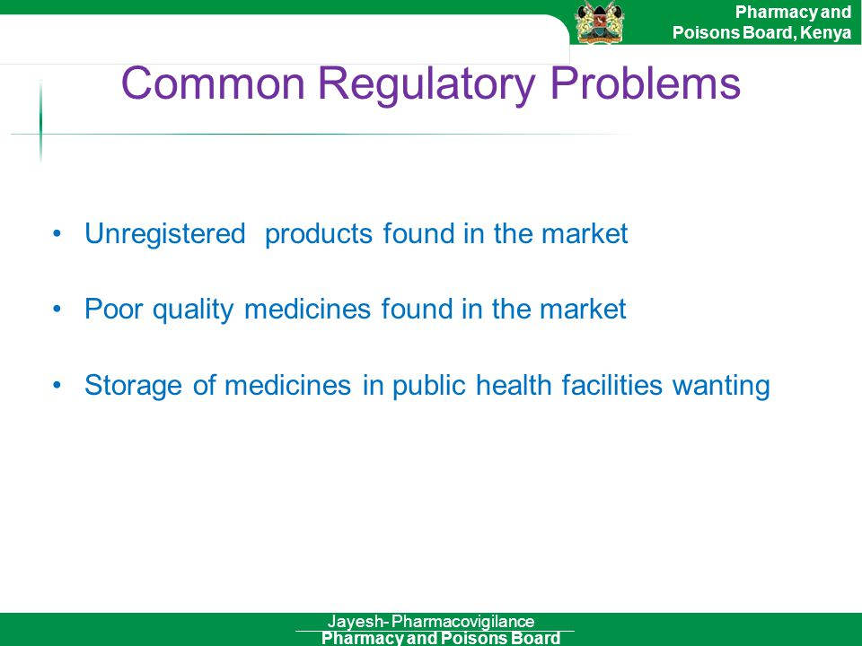 Common Regulatory Problems