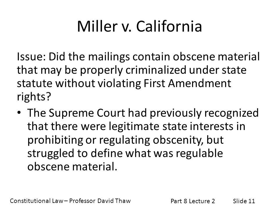 Miller v. California