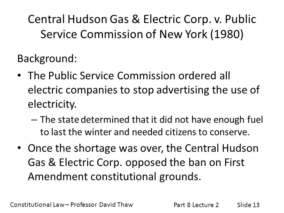 Central Hudson Gas & Electric Corp. v