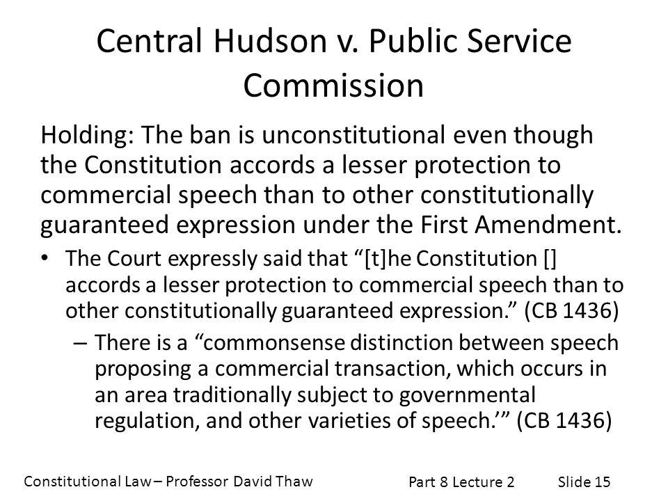 Central Hudson v. Public Service Commission