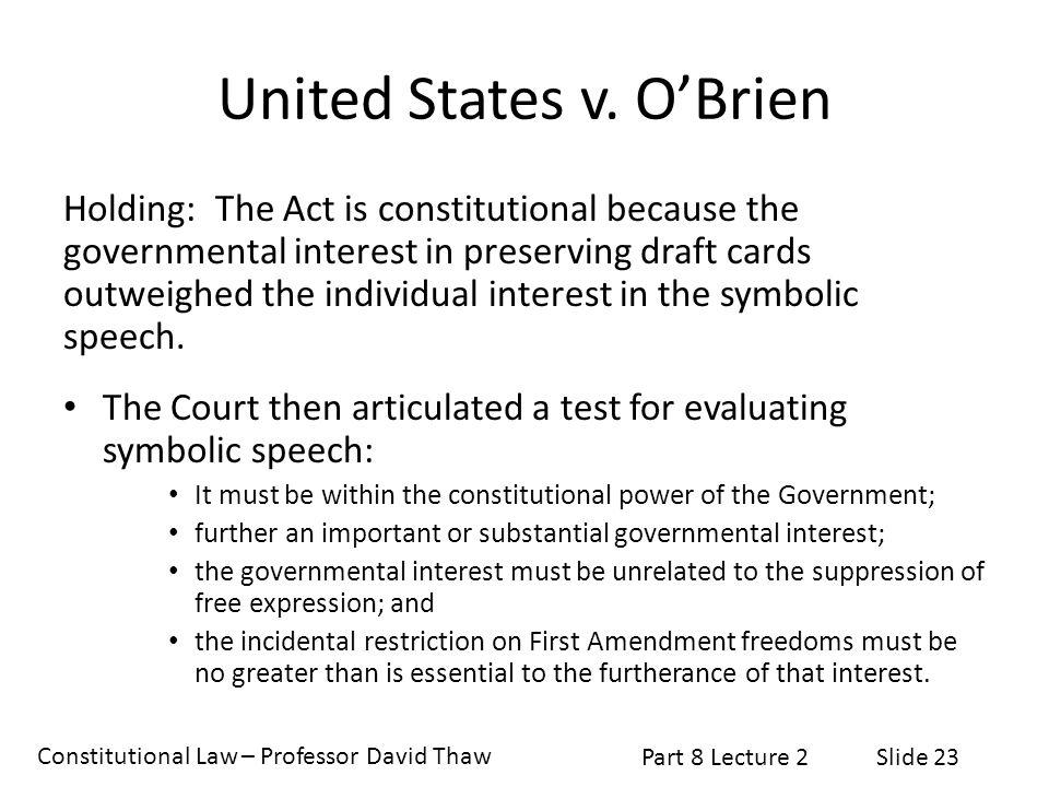 United States v. O'Brien