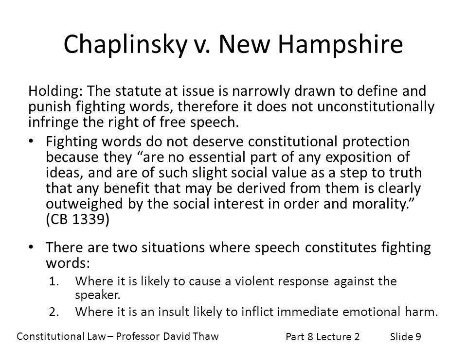 Chaplinsky v. New Hampshire