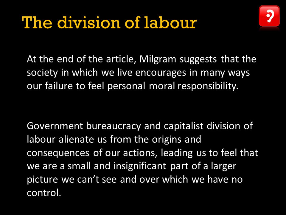 The division of labour