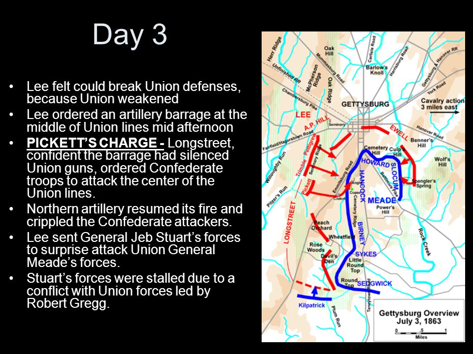Day 3 Lee felt could break Union defenses, because Union weakened