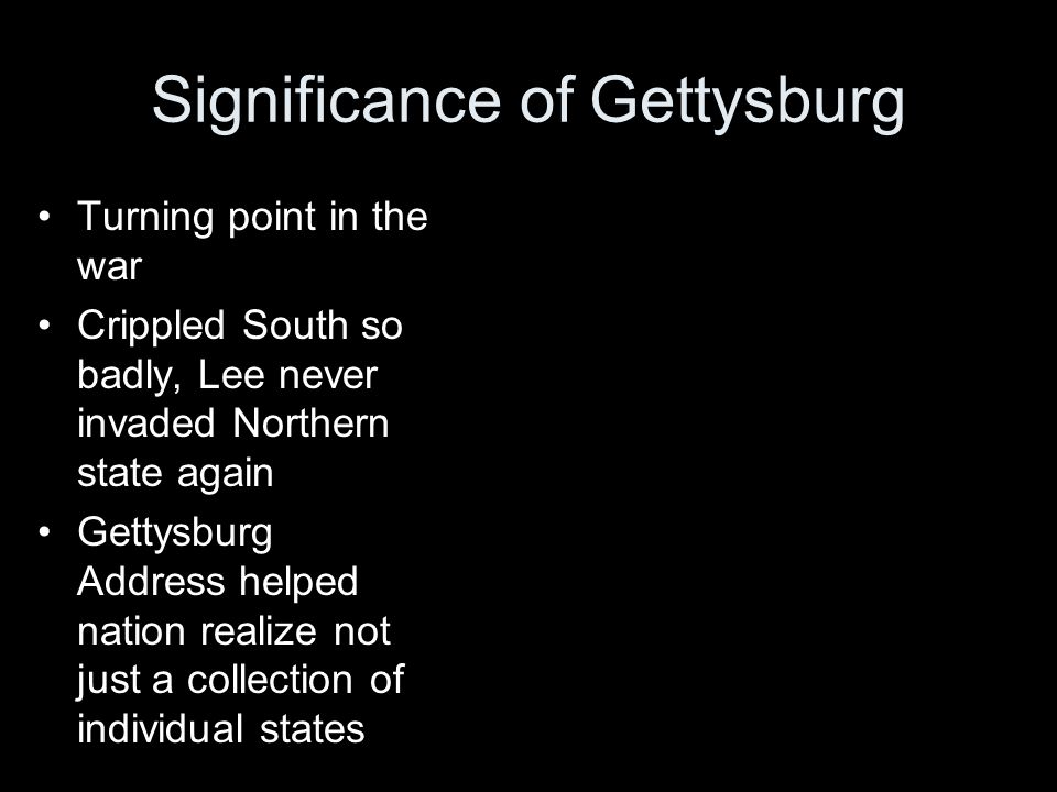 Significance of Gettysburg