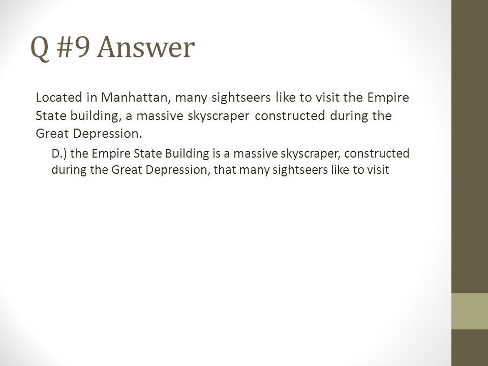 Q #9 Answer