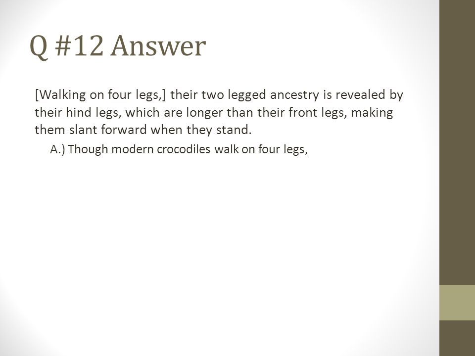 Q #12 Answer