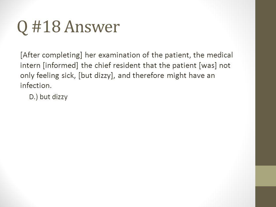 Q #18 Answer