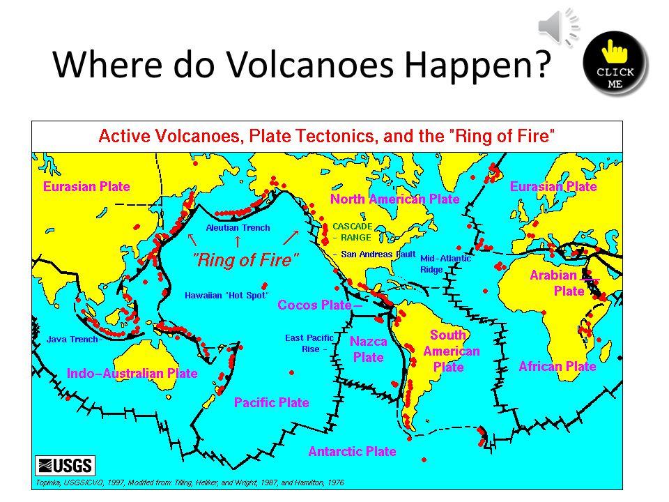 Where do Volcanoes Happen