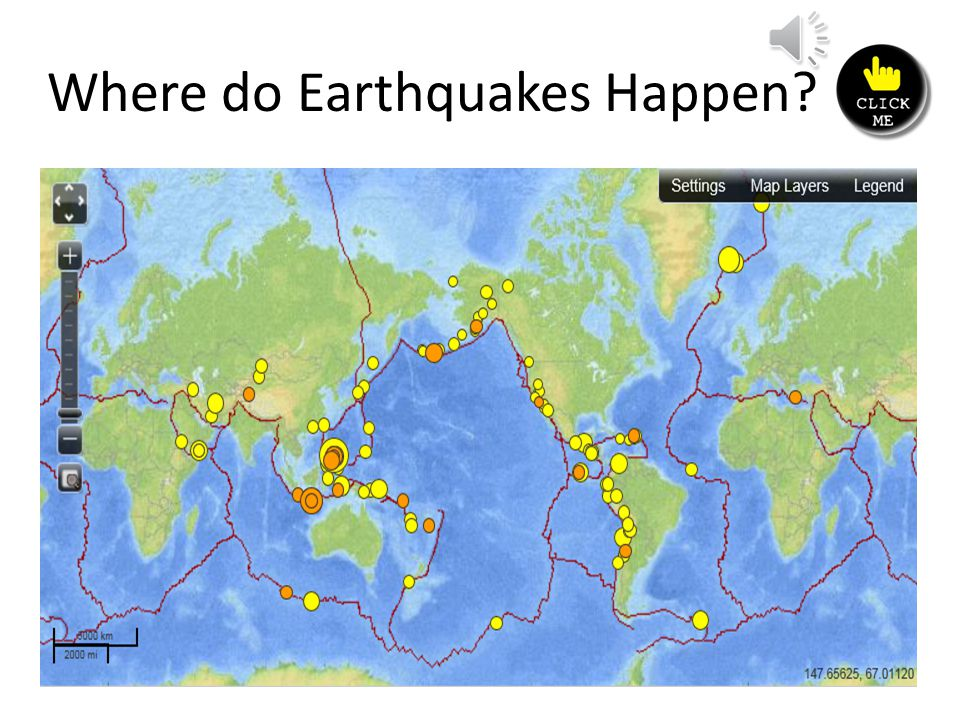 Where do Earthquakes Happen