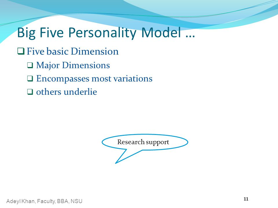 Big Five Personality Model …