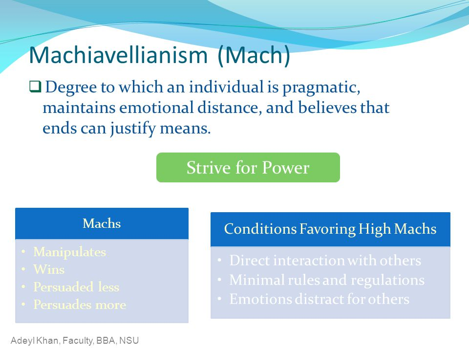Machiavellianism (Mach)