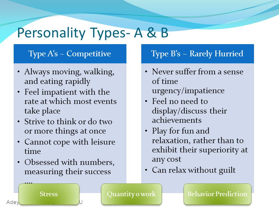 Personality Types- A & B