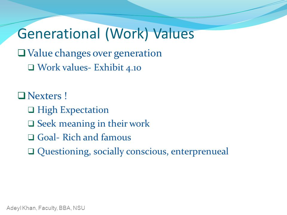 Generational (Work) Values