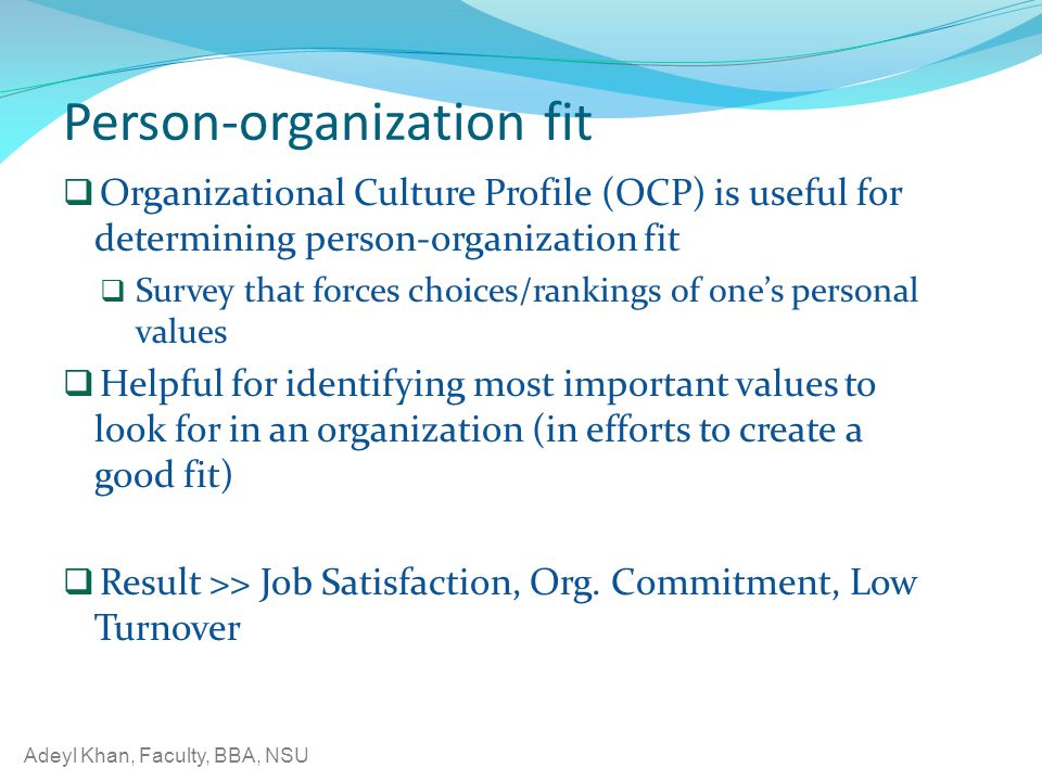 Person-organization fit