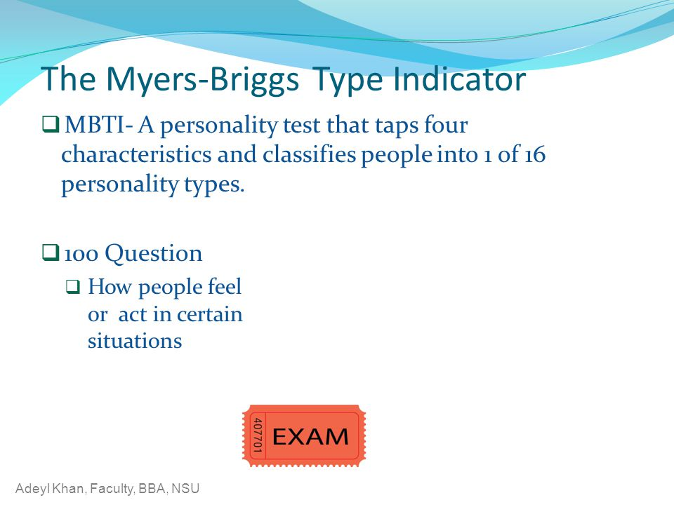 The Myers-Briggs Type Indicator
