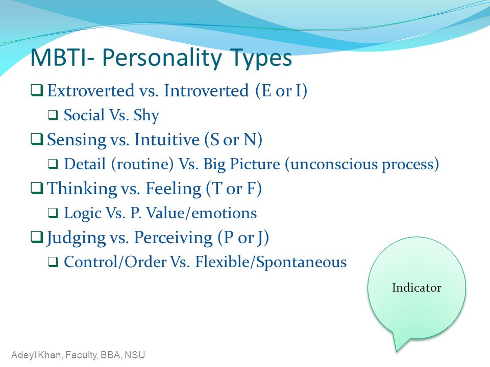 MBTI- Personality Types