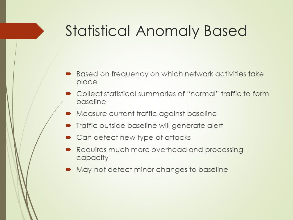Statistical Anomaly Based
