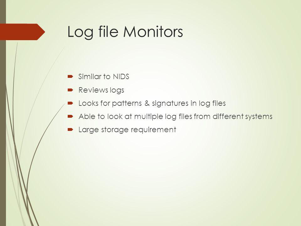 Log file Monitors Similar to NIDS Reviews logs