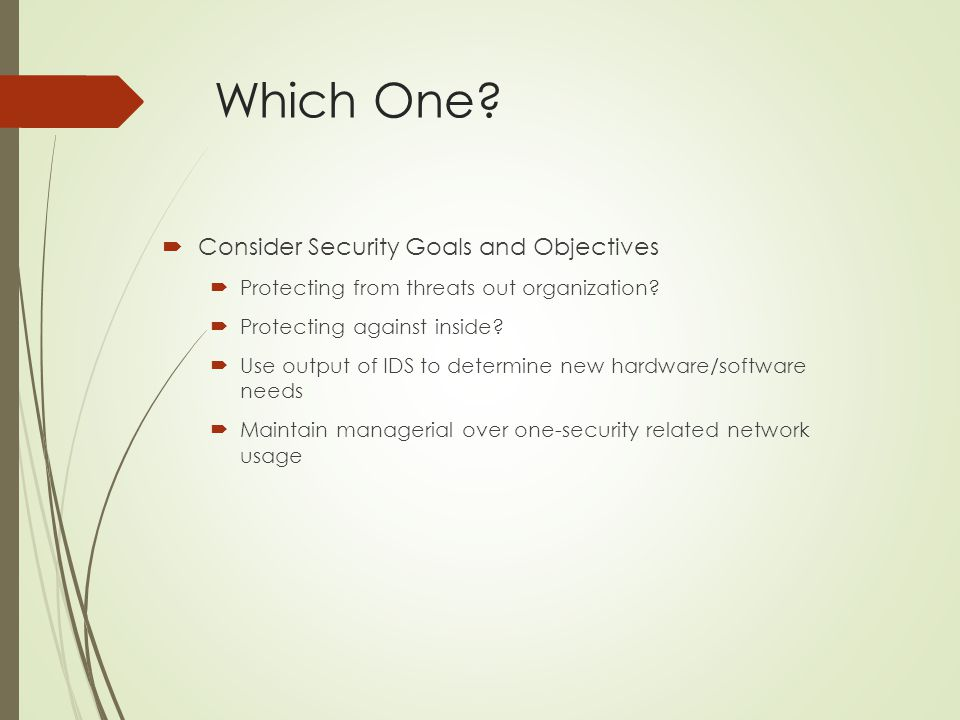 Which One Consider Security Goals and Objectives