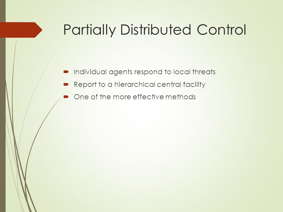 Partially Distributed Control
