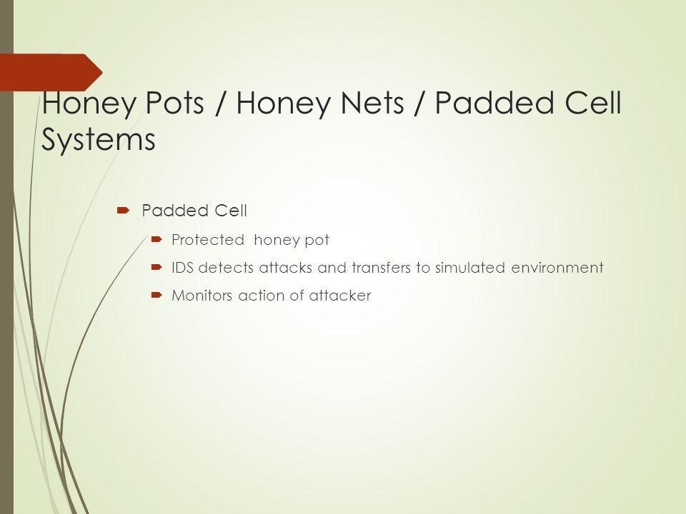 Honey Pots / Honey Nets / Padded Cell Systems