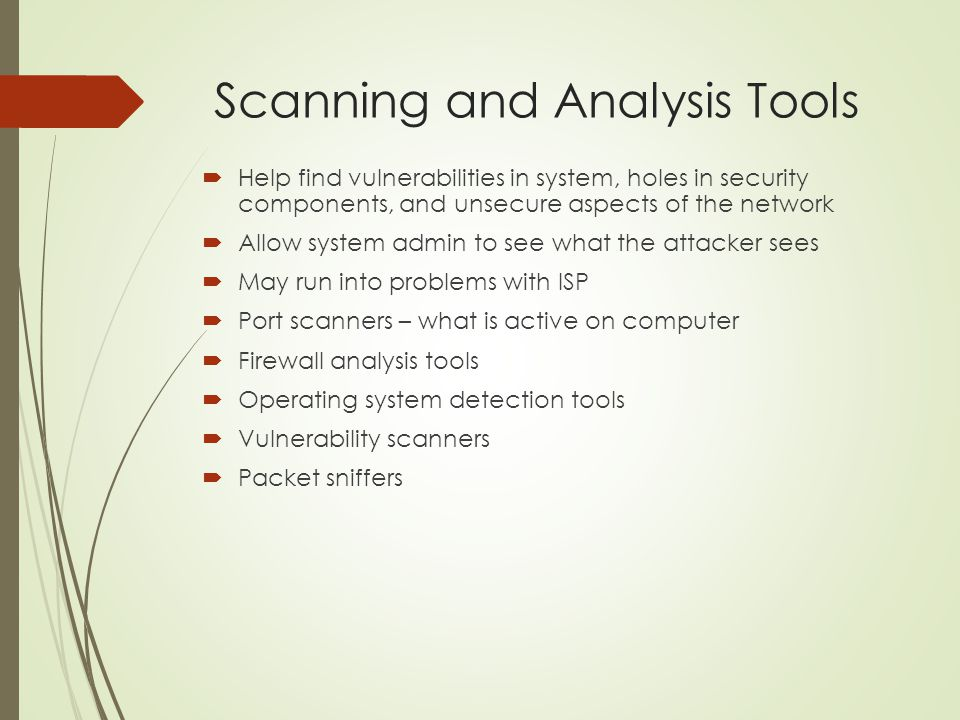 Scanning and Analysis Tools