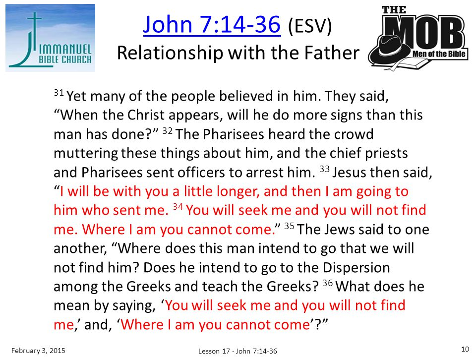 Relationship with the Father